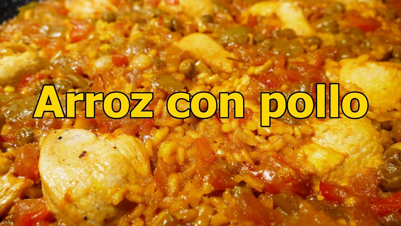 receta ARROZ CON POLLO ESPAOL  recetas de cocina faciles