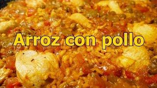 receta ARROZ CON POLLO ESPAÑOL - recetas de cocina faciles rapidas y economicas - comidas ricas