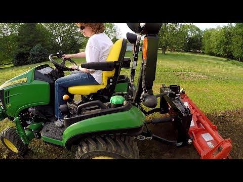 Subcompact Tractor (Deere 1025R / Kubota BX, etc) is PERFECT for garden tilling