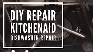 KitchenAid Dishwasher Repair- Not cleaning properly (clean out Filter)