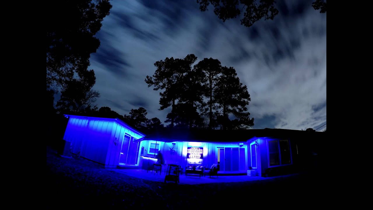 gopro 4 night time lapse backyard led lights youtube