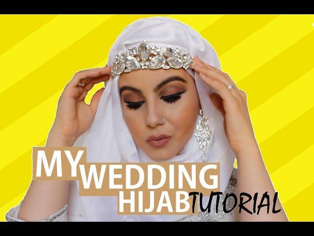 Elegant Wedding Hijab Tutorial? | Amina Chebbi