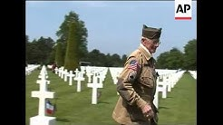 Normandy cemetery arrivals ahead of D-Day memorial service