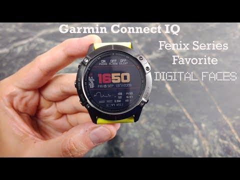 Garmin Fenix Connect IQ Favorite Watch Faces