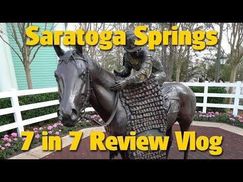 Disney's Saratoga Springs Resort | 7 in 7 Review Vlog