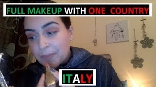 MAKEUP WITH PRODUCTS FROM ITALY 🇮🇹