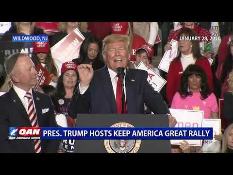 President Donald Trump, Wildwood, New Jersey Keep America Great Rally 01/28/20