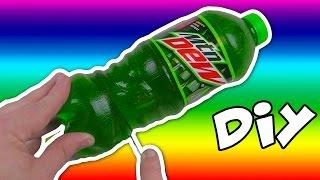 DIY How to Make EDIBLE GUMMY Soda Bottle MOUNTAIN DEW Cola Jello