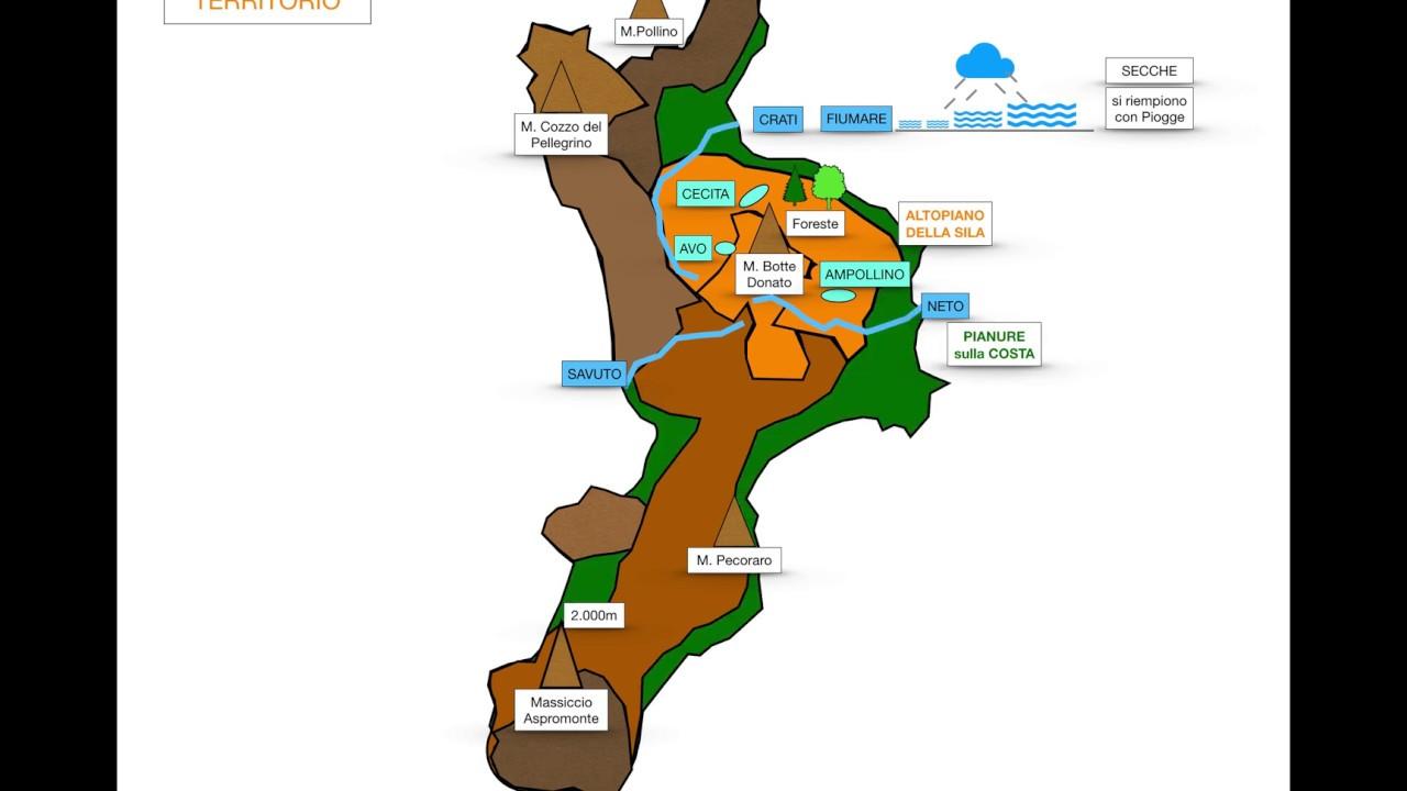 Regione Calabria Cartina Politica.Geografia Calabria Youtube