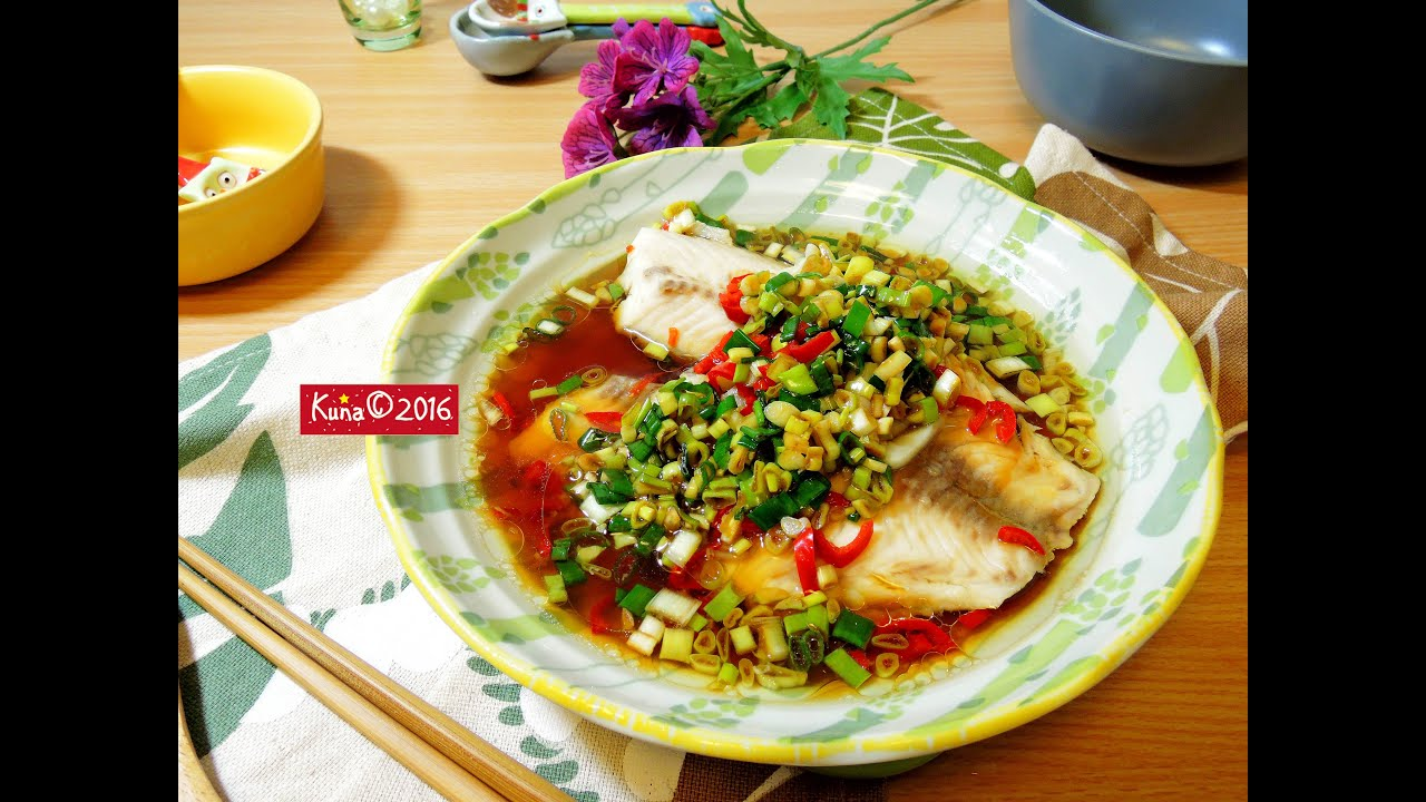 蔥油醬蒸鯛魚 Spring onion oil steamed snapper row - YouTube