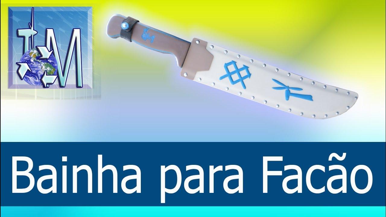 173c57ae9dba3 Bainha para Facão - YouTube