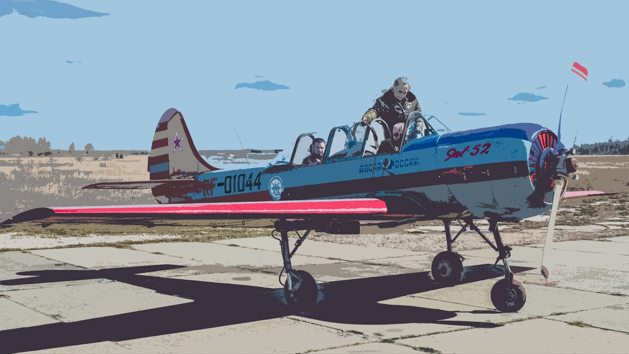 Полет на самолете Як-52 - YouTube
