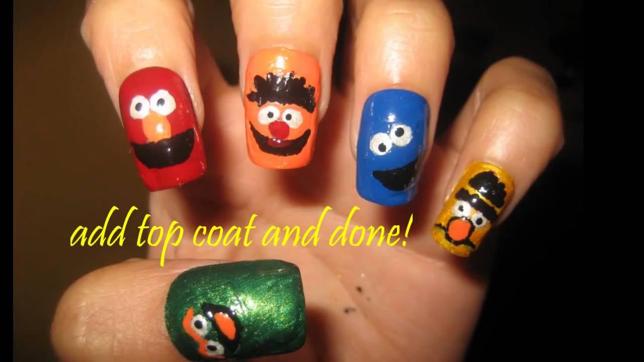 Sesame Street Nail Design Youtube
