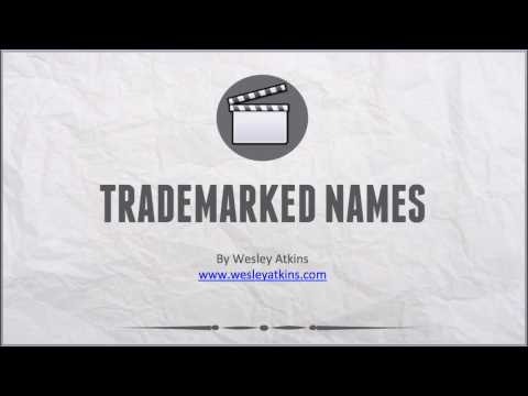 [ Create Your Own Website ] 5. Trademarked names