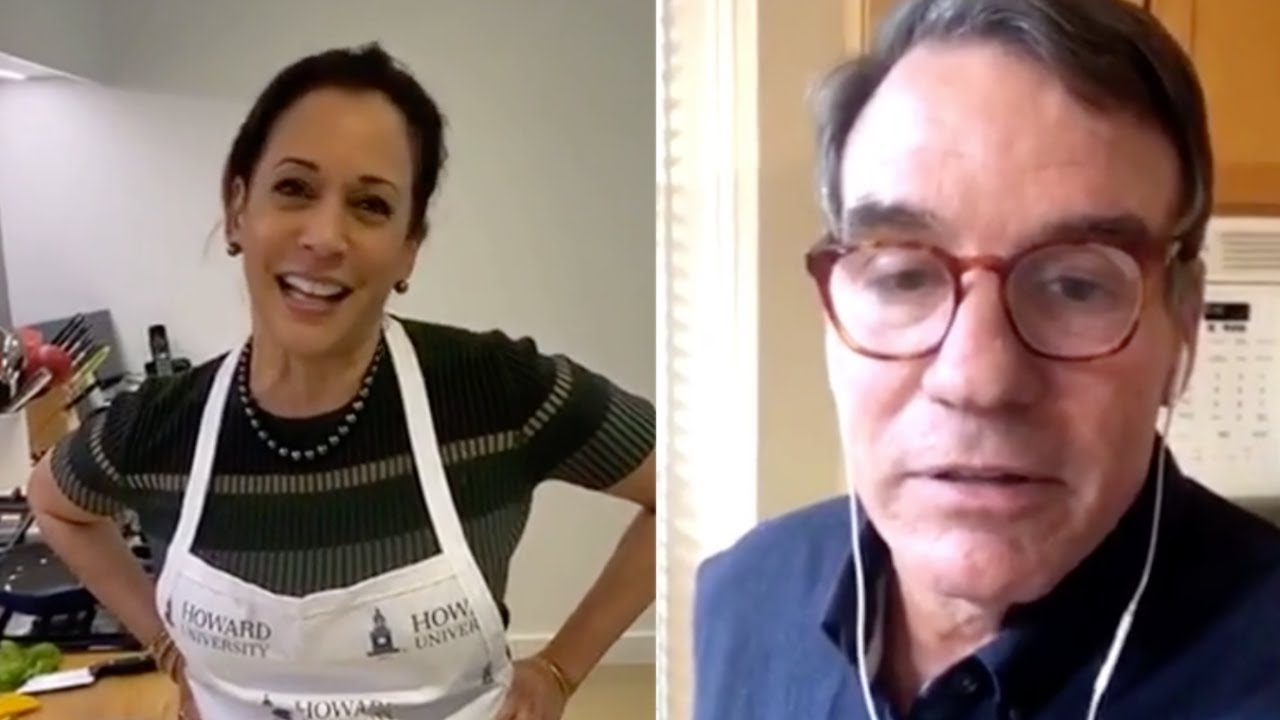 WATCH: Kamala Harris Teaches Fellow Senator Mark Warner How to Make a Tuna Melt Properly