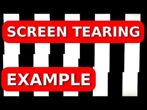 Screen Tearing Example
