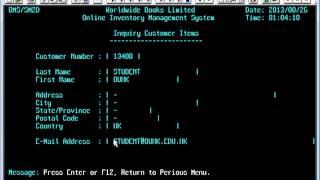 CICS Transaction demo run on CICS TS (2013-08-26)