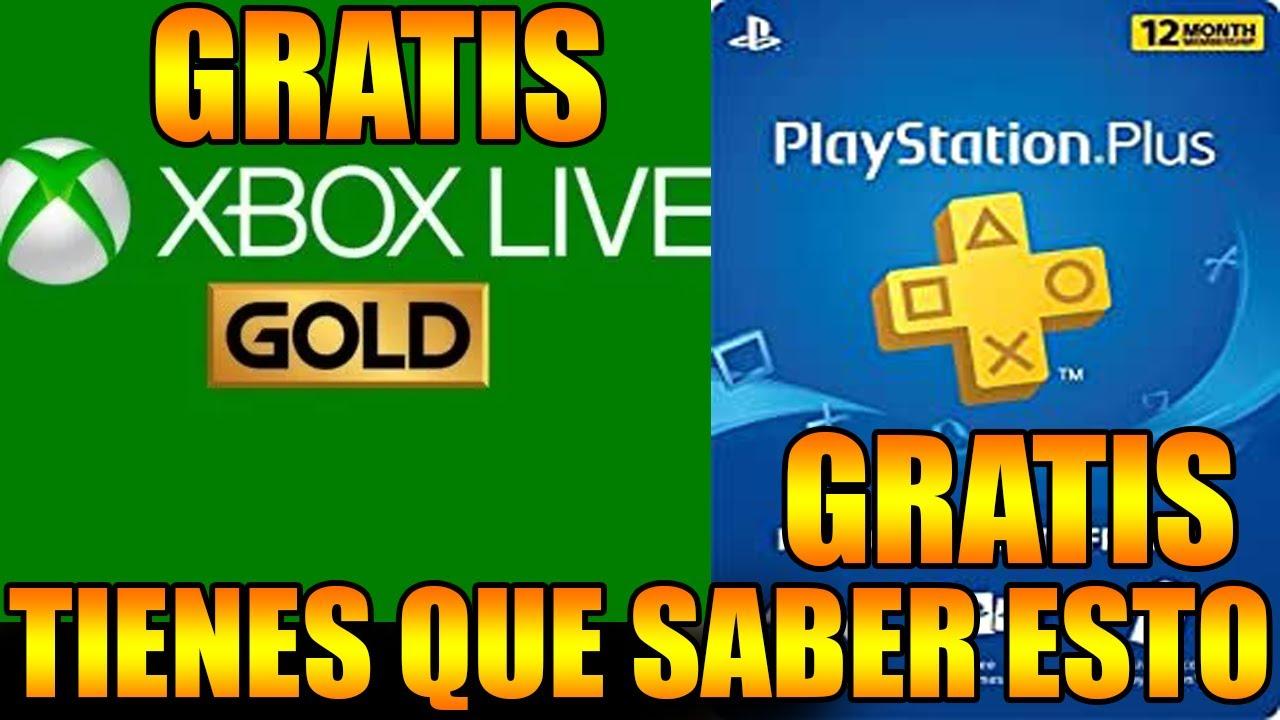 XBOX LIVE GOLD Y PLAYSTATION PLUS GRATIS TIENES QUE SABER ESTO ANTES QUE SEA TARDE