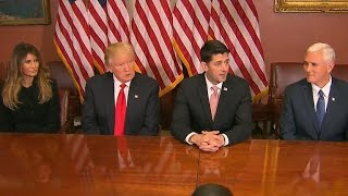 President-elect Trump meets with top GOP leaders