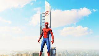 Spider-Man PS4 - Stark Suit Combat, Abilities & Avengers Tower Free Roam Gameplay