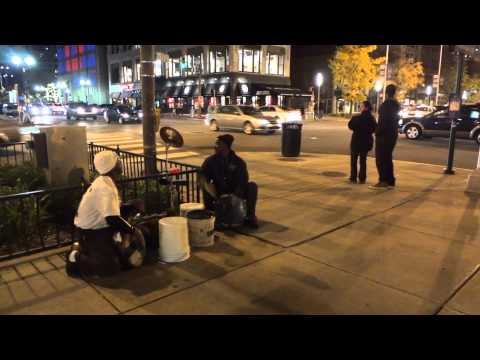 Street music performance in Indianapolis