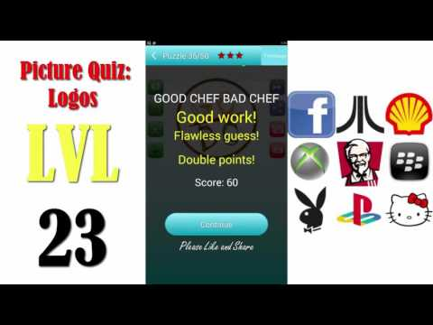 Picture Quiz: Logos Level 23 - All Answers - Walkthrough ( By Timeglass Works )