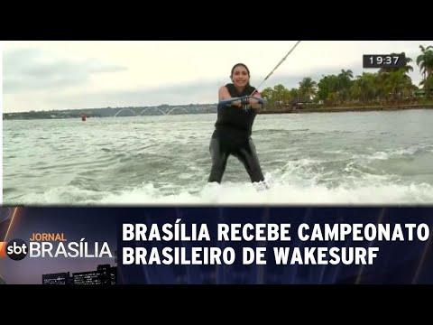 Brasília recebe campeonato brasileiro de Wakesurf | Jornal SBT Brasília 17/08/2018