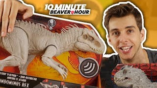 Indominus Rex DINO RIVALS! | 10 Minute Beaver Hour - Jurassic World Unboxing