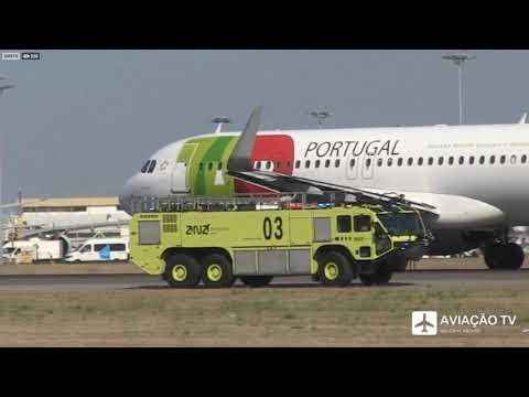 Avião da TAP explode motor IMAGENS EXCLUSIVAS