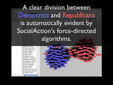 SocialAction: Analyzing the Social Network of US Senators