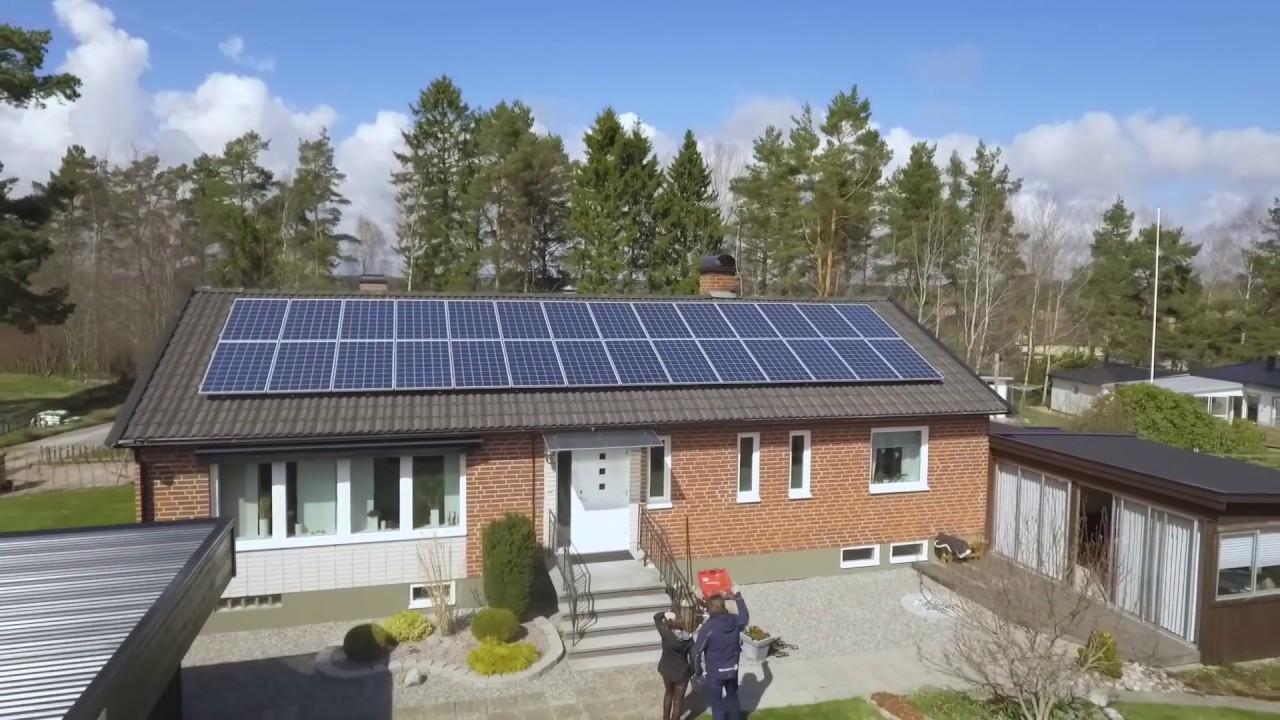 ansluta sol paneler till hus