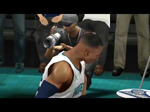 Mavericks vs Hornets iOS game play custom line-up