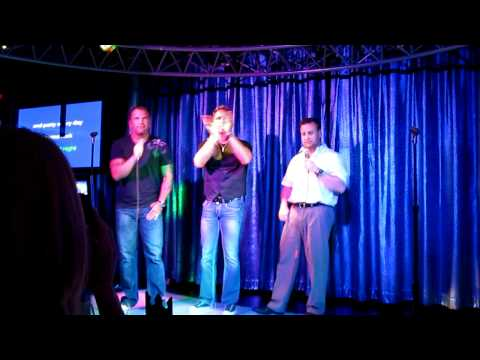 Mike French, Aaron Mathis, and Mike Ryan on the Oasis Cruise SHip Karaoke