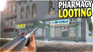 NEW PHARMACY LOOTING + BASE FOUND (SHOTGUN RAIN RETURNS!) - 7 Days to Die Alpha 17 Gameplay Part 4
