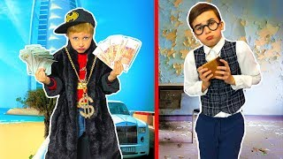 Богатая МАЛЯВКА VS бедный ШКОЛЬНИК! Детский СКЕТЧ