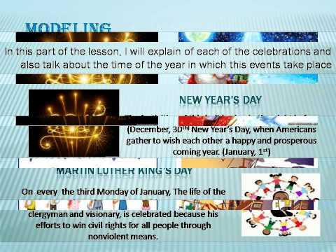 U.S National Holidays Lesson Plan