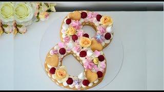 Торт ЦИФРА (Буква)/ Мягкие медовые коржи/Для любой знаменательной даты