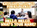 Hello Hello What's Your Name - Easy Guitar Chords for ESL Kids Songs
