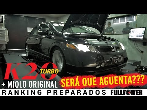 Honda Civic Si K20: é turbo no japa girador e potência no Ranking FULLPOWER!