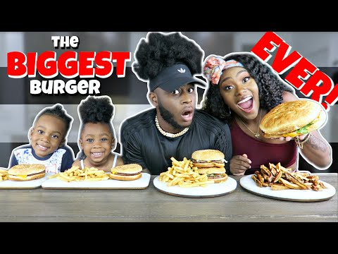 Tasty GIANT BURGER MUKBANG          | TRY NOT TO LAUGH | FUNNY | FOOD | ASMR | 2019