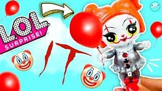 DIY Custom LOL SURPRISE DOLL 🎈 Pennywise IT Halloween Costume Tutorial