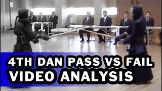 [KENDO VIDEO ANALYSIS] - Grading for 4th Dan: Pass vs Fail