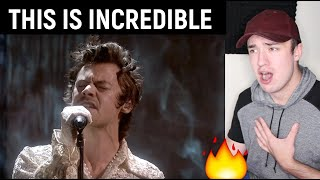 Harry Styles - Falling (Live From The BRIT Awards 2020) REACTION