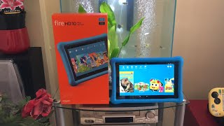 Amazon Fire HD 10 Kids Edition Tablet - Unboxing [HD]