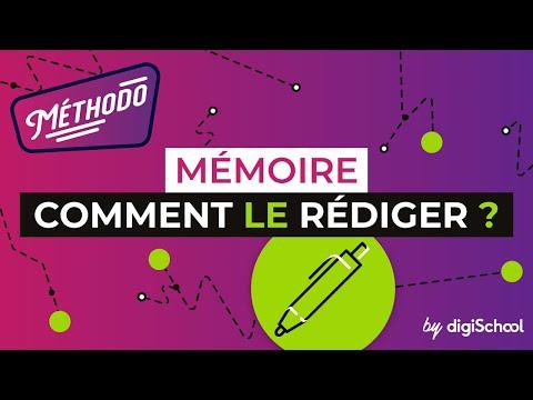 Rédiger son mémoire - Méthodologie - digiSchool