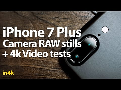 iPhone 7 Plus Unboxing + Raw DMG and 4K video samples - in 4k