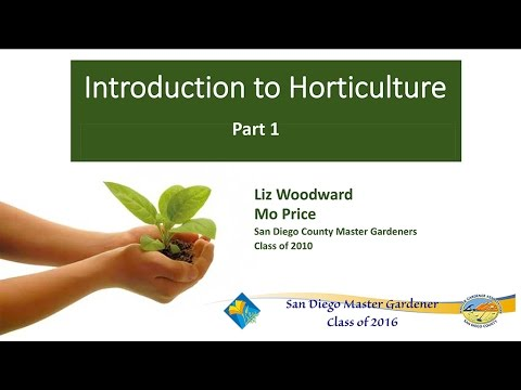 Introduction To Horticulture Part 1