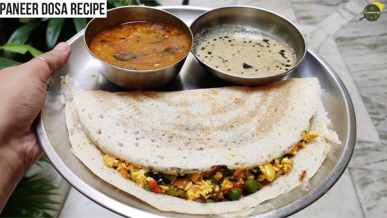 Paneer Dosa Recipe   डोसा रेसिपी   Healthy Breakfast Recipe   Dosa Recipe In Hindi   Dosa Recipe