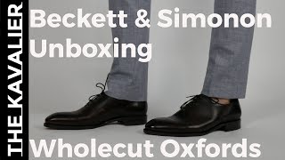 First Look: Beckett Simonon Valencia Wholecut Oxfords Unboxing & Review
