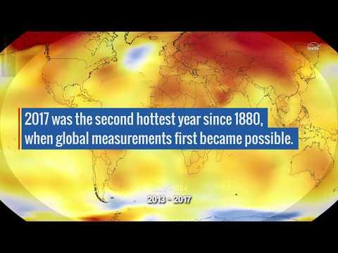 Το 2017 ήταν η δεύτερη θερμότερη χρονιά από το 1880